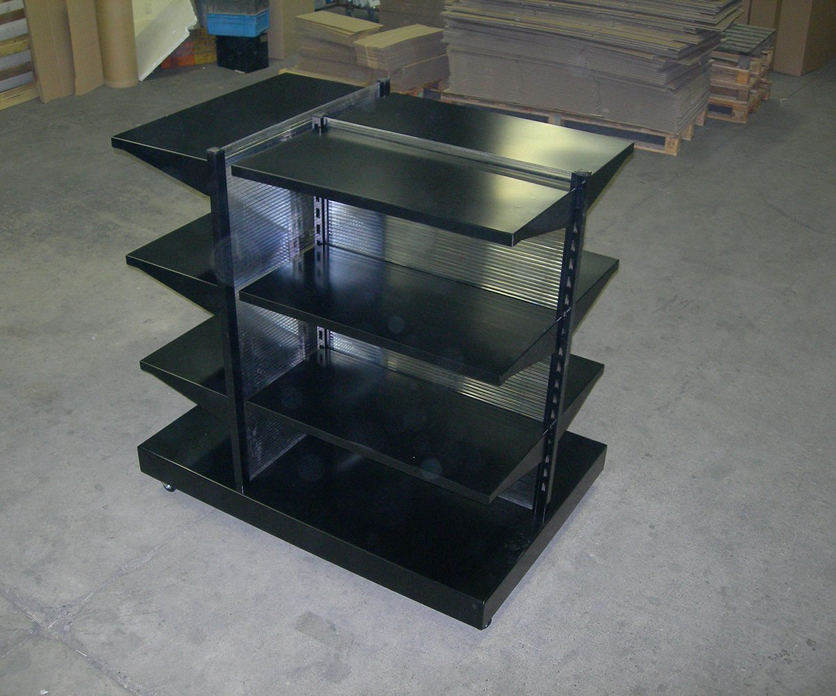 élément d'agencement intérieur en métal noir
