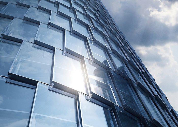 Panneaux métallique décoration immeuble