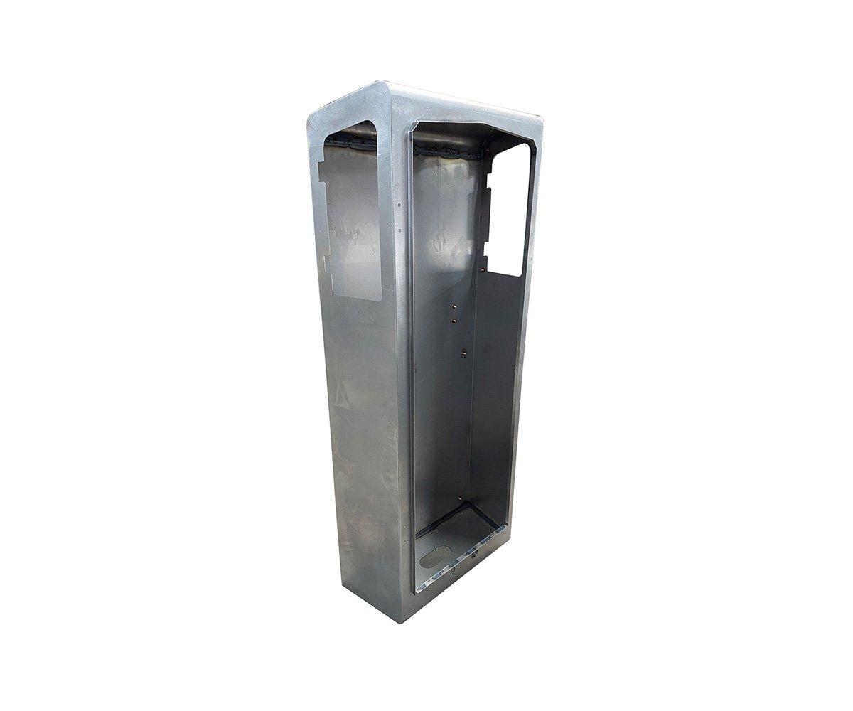 Cabine en tôle réalisé grâce à une plieuse industrielle