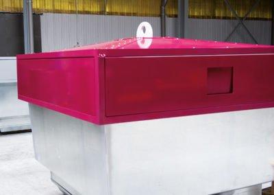 Container déchets en métal et tôlerie industrielle
