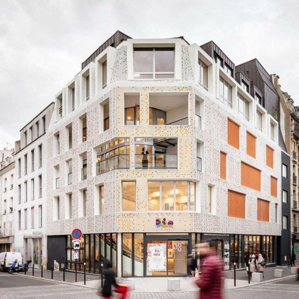 façade alu perforée pour bâtiment