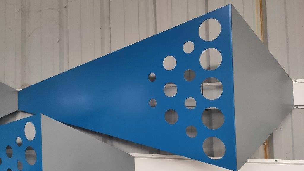 Panneaux perforée effet 3D réalisé par découpe laser