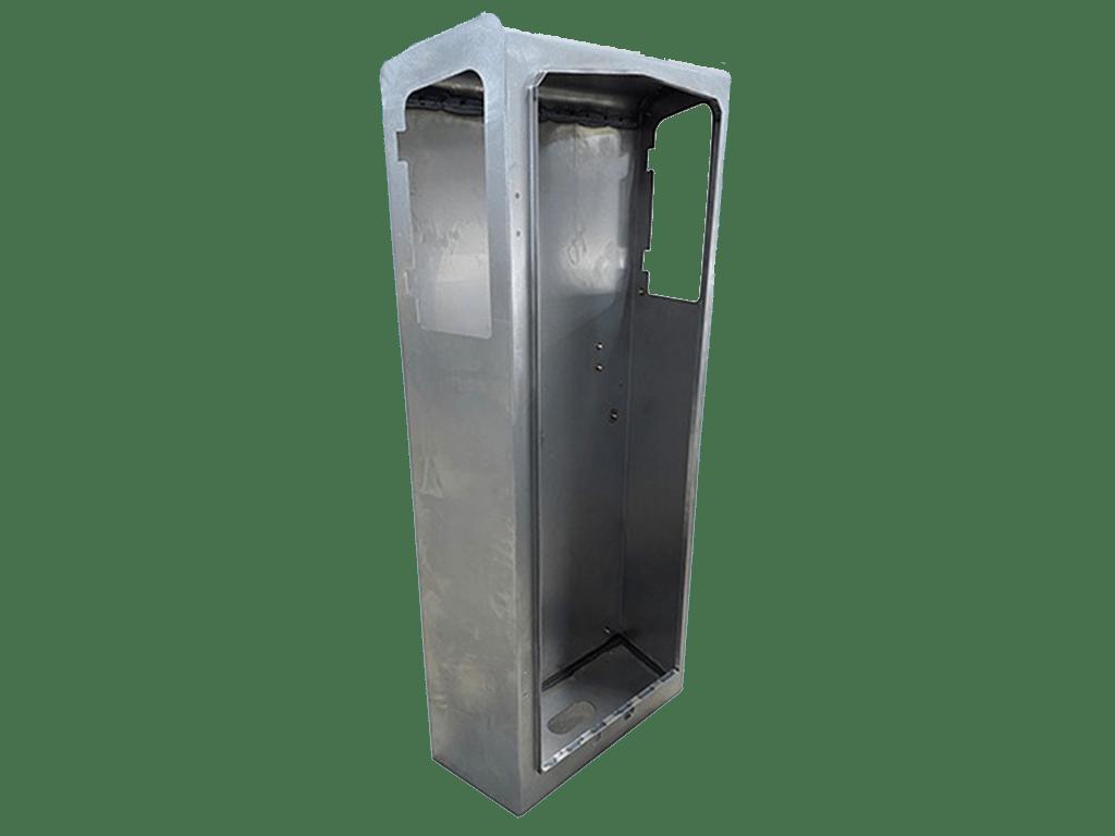 Borne métallique sur mesure en tôle
